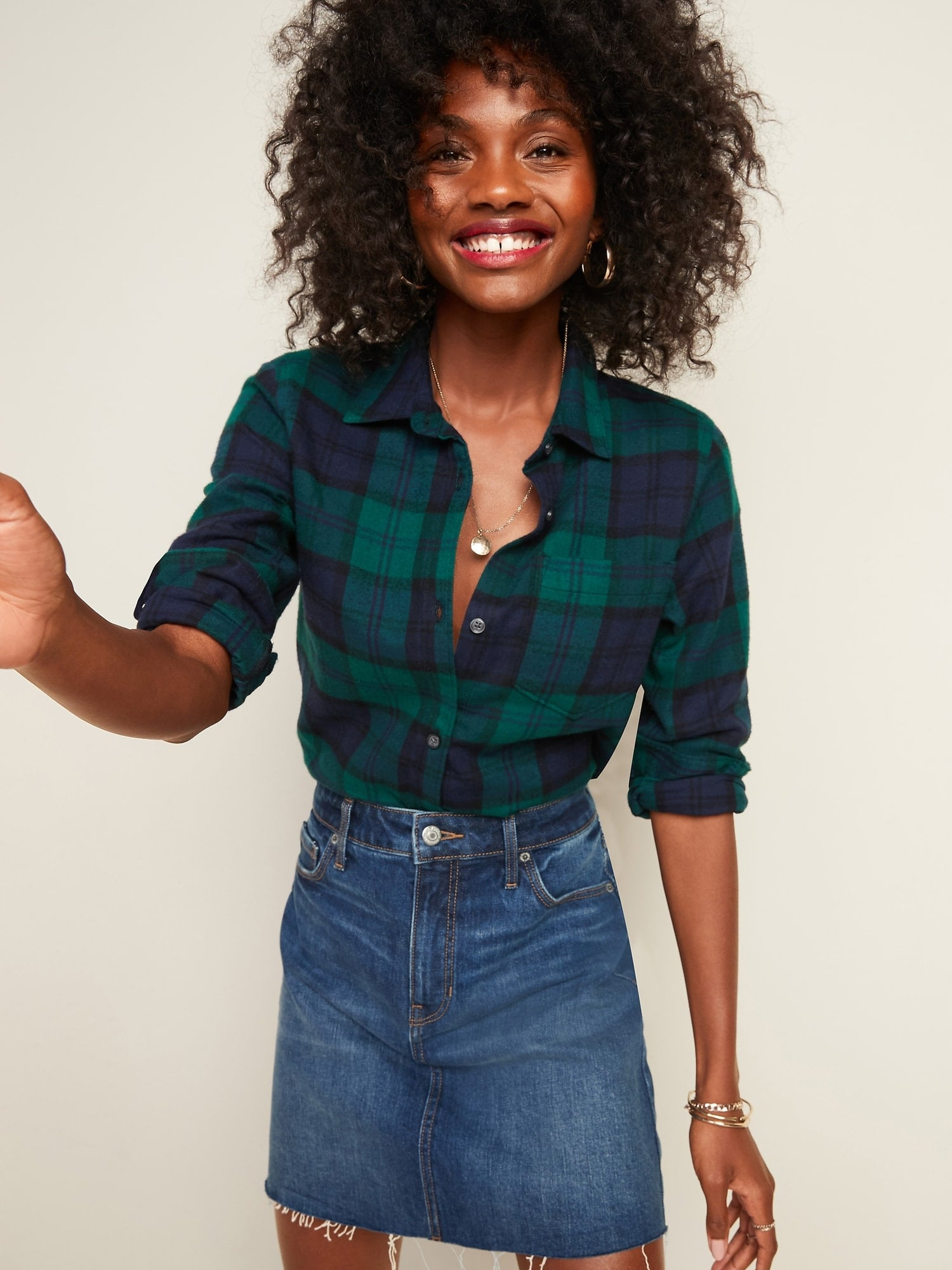 Flannel Shirts For Women at Old Navy