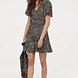 H&M Patterned Crêped Dress