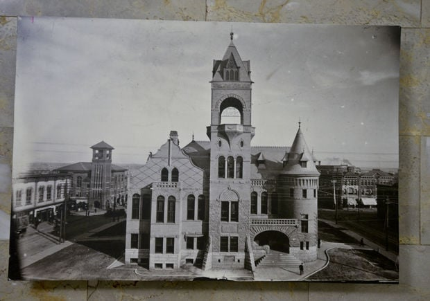 A photo of the historic courthouse circa 1896.