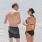 Jennifer Connelly and Paul Bettany in St. Barts Feb. 2017