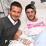 David Beckham visited a cancer patient in England.