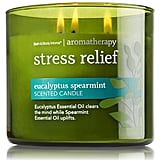 Bath & Body Works Aromatherapy Stress Relief 3-Wick Candle, Eucalyptus Spearmint