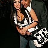 Kim Kardashian and her then-beau Nick Cannon got close at a fashion event in LA back in Oct 2006.