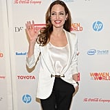 Angelina Jolie was in high spirits for the uplifting event.