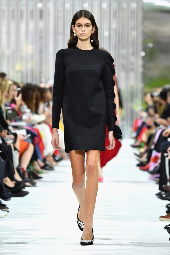 Kaia Walked the Runway at the Valentino Show in a Very Glamorous LBD