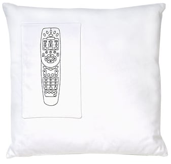 Remote Control Pillow Is a Throw Pillow With Pocket For a Remote