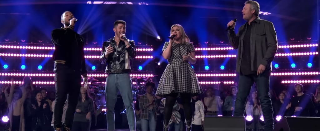 """Watch All Four The Voice Judges Cover Nick Jonas's """"Jealous"""""""