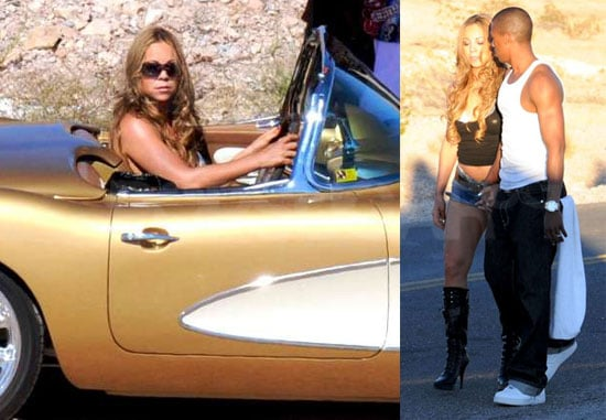 """Photos of Mariah Carey and Nick Cannon Filming """"I Stay in Love"""" in Las Vegas"""