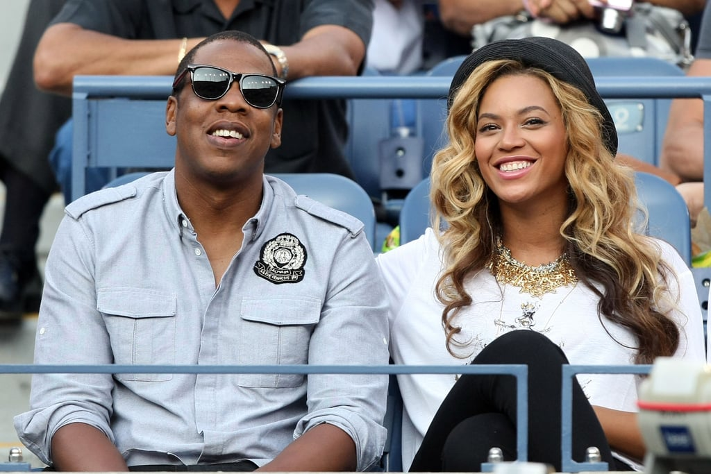 Jay-Z and Beyoncé Knowles were in the stands yesterday to check out the action at the US Open in Queens. They were in the stadium to watch the men's final match and see Novak Djokovic defeat reigning champ Rafael Nadal. The expecting couple are home in the Big Apple following a vacation in honor of her 30th birthday that took them, by yacht, from Italy to Croatia, where Beyoncé wore a bikini for a day of exploring. Jay-Z is due to wrap up his time at home soon, though, when he and Kanye West head to Birmingham, AL, to rehearse for their Watch the Throne tour, which kicks off Sept 22. in Detroit.