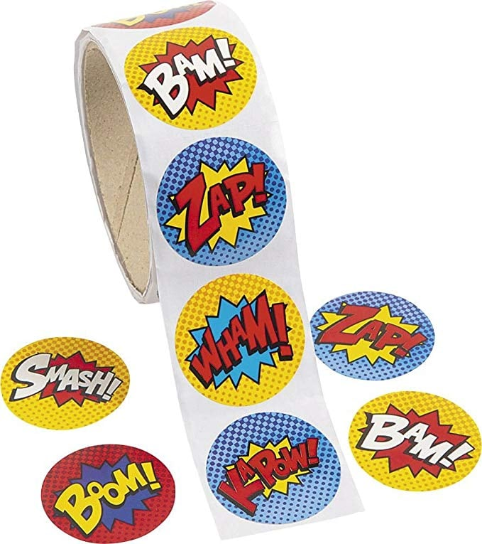 Fun Express Superhero Stickers