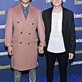 Conrad Ricamora and Joshua Cockream at EW's 2020 SAG Awards Preparty