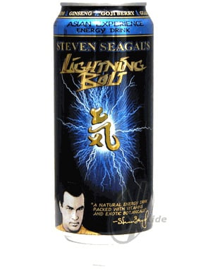 Product of the Day: Steven Seagal Lightning Bolt Energy Drink