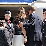 Kate Middleton and Prince William leaving LAX.