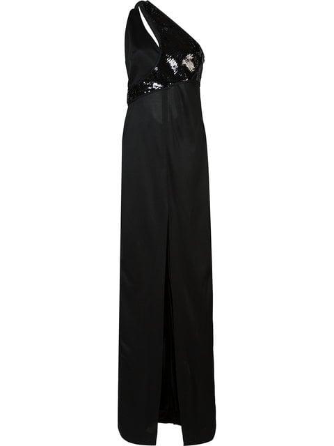 Mugler Sequined One-Shoulder Dress