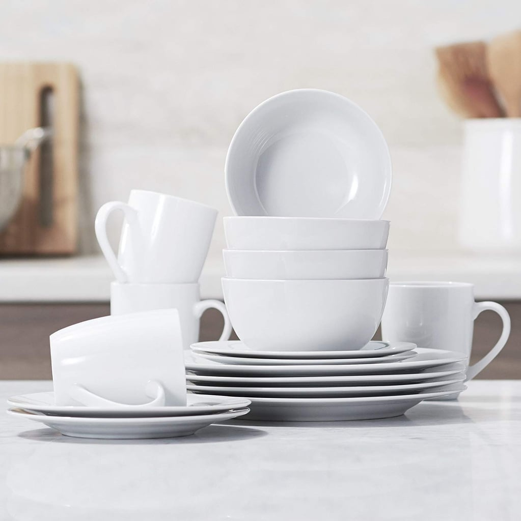 AmazonBasics 16-Piece Kitchen Dinnerware Set