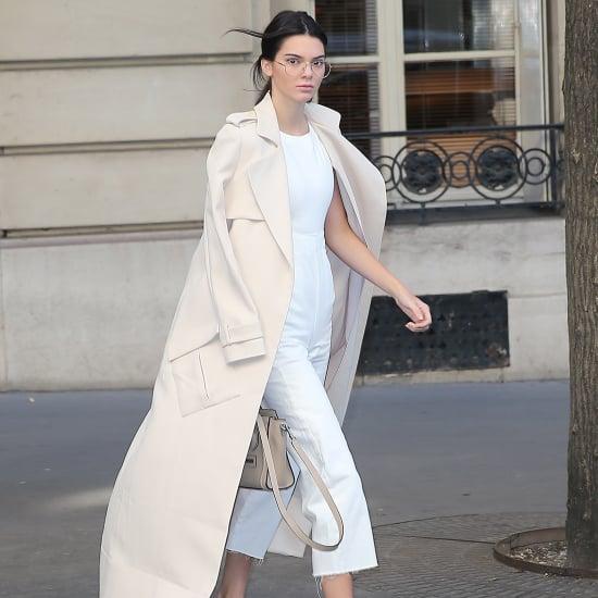 Kendall Jenner's White ASOS Jumpsuit at Paris Fashion Week