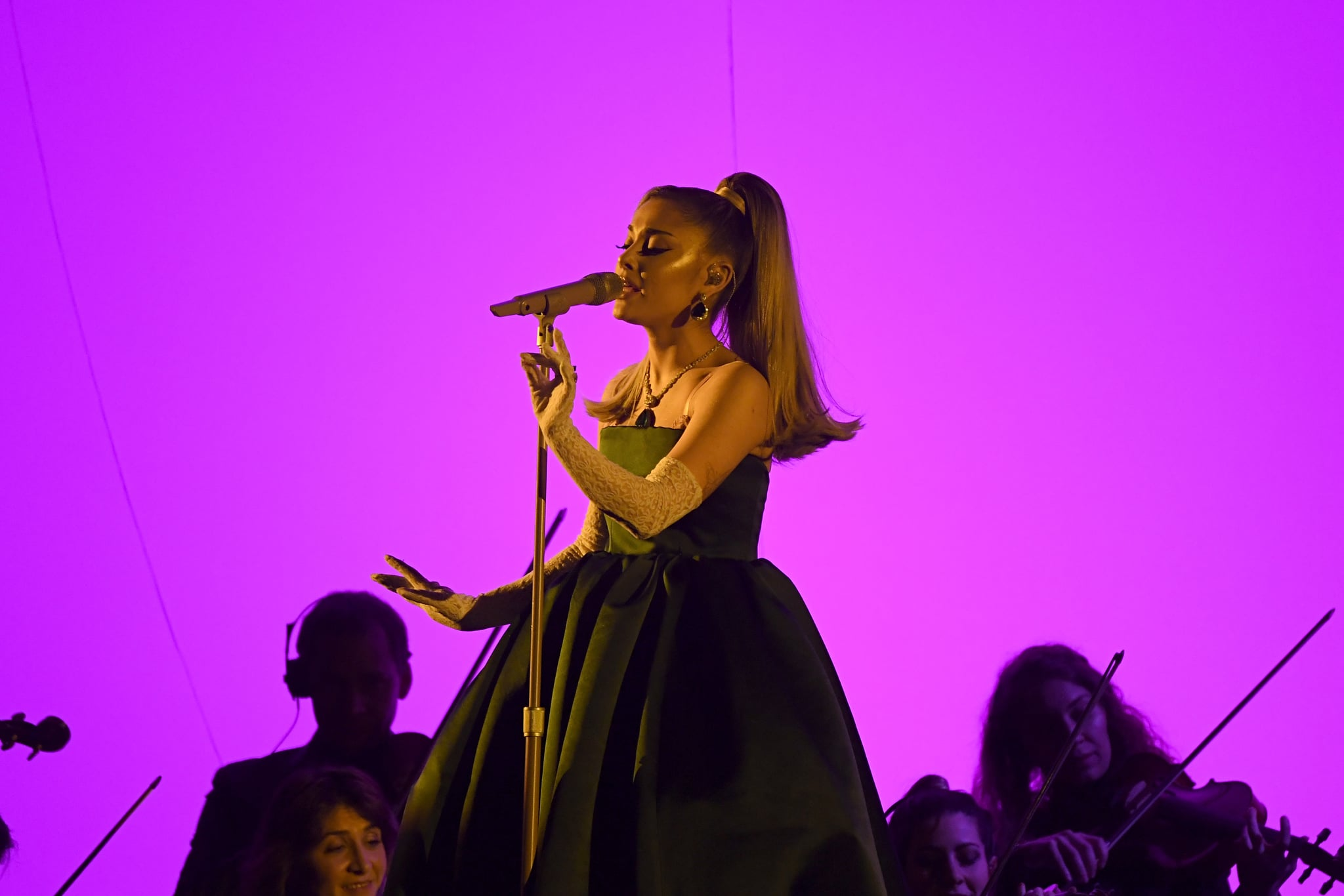 ariana grande s performance outfits at the 2020 grammys popsugar fashion performance outfits at the 2020 grammys
