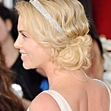 Charlize Theron's hair at the Golden Globes.