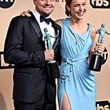 Pictured: Leonardo DiCaprio and Brie Larson