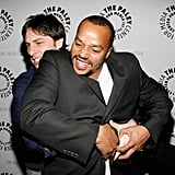 Zach Braff and Donald Faison couldn't keep their hands off each other at a Scrubs farewell event in December 2007.