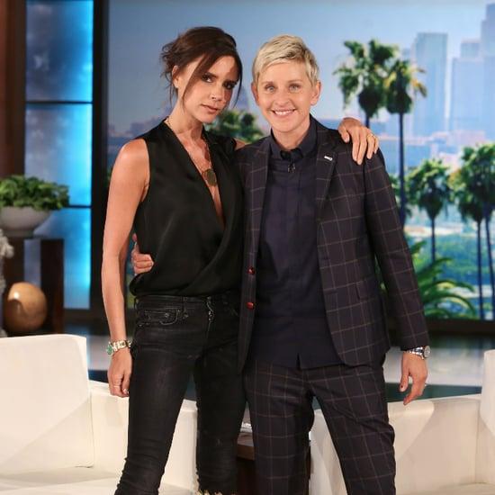 Victoria Beckham Talks Harper on Ellen DeGeneres April 2015