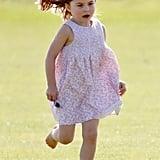 Princess Charlotte Having Fun at Polo Match June 2018