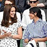 Kate Middleton's last appearance before officially going on maternity leave was at Wimbledon in July.