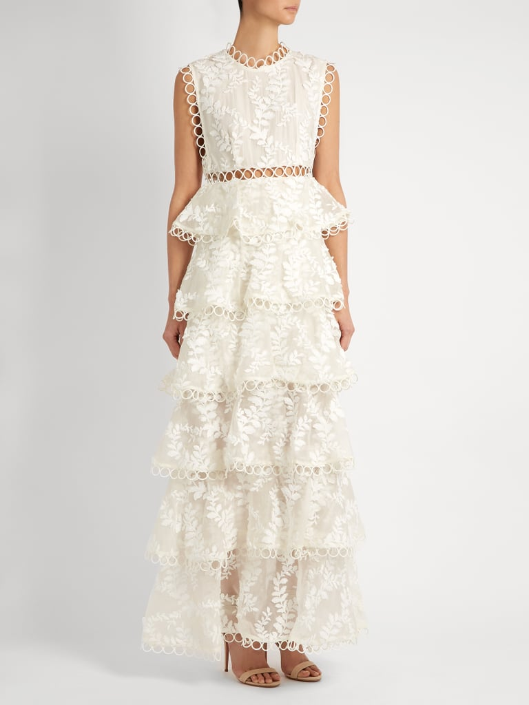 Zimmermann Winsome Tier Vine Embroidered Silk-Organza Gown ...