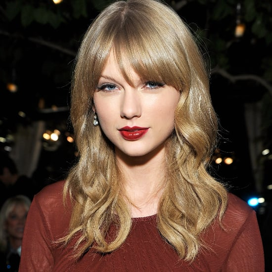 Celebrity Beauty & Makeup: Taylor Swift Dark Red Lipstick