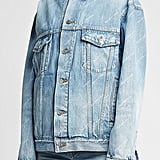 Balenciaga Allover Logo Denim Jacket