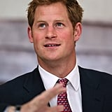 Prince Harry listened attentively on Thursday while touring a building in Washington DC.