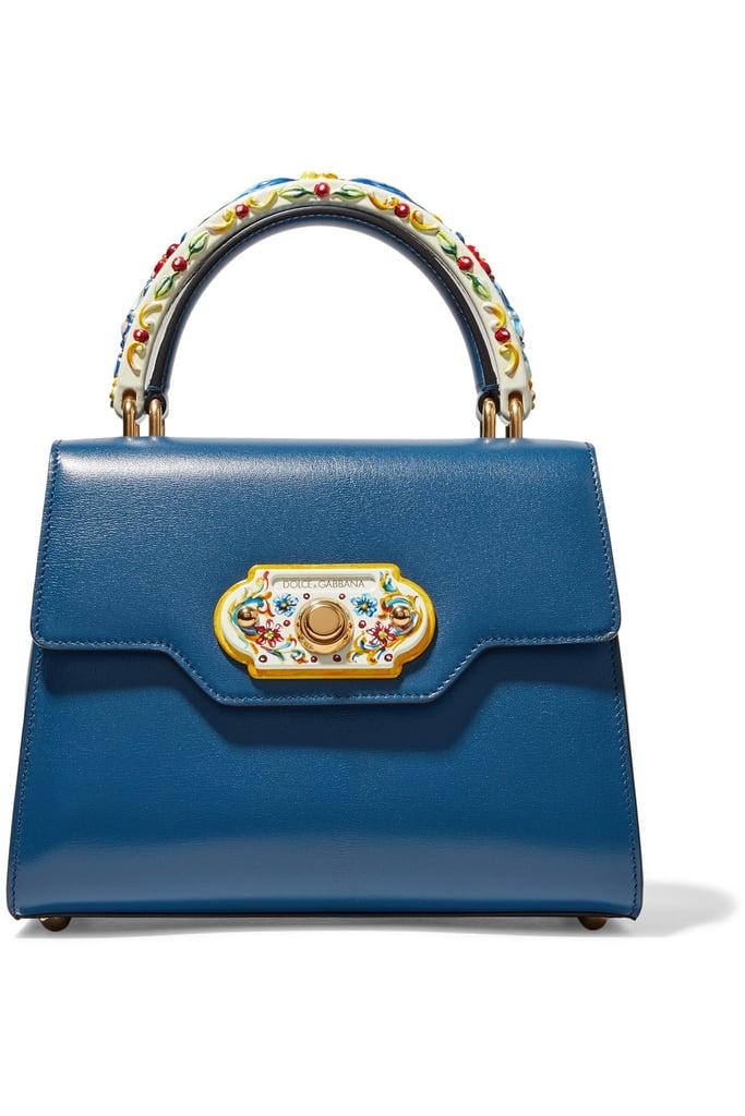 Dolce & Gabbana Turquoise Leather Shoulder Bag nFrrCl1