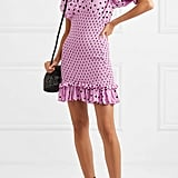 Faithfull The Brand Margherita Shirred Polka-Dot Crepe Mini Dress