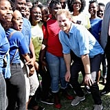 Prince Harry Dancing With Kids in the Caribbean 2016