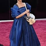 Quvenzhané Wallis on the red carpet at the Oscars 2013.