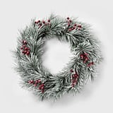 Flocked Berry Christmas Wreath