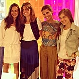 Lovely Summer looks from our style director Noria (far left) and FabSugarTV producer Liza (far right), alongside the BCBG team.