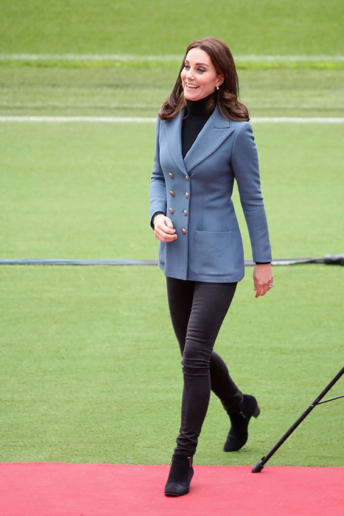 Kate Middleton's Blue Philosophy di Lorenzo Blazer