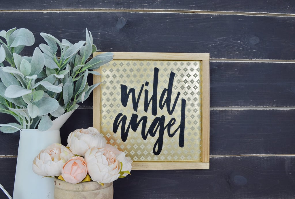 Wild Angel Metallic Nursery Print