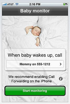 Baby Monitor For Your iPhone