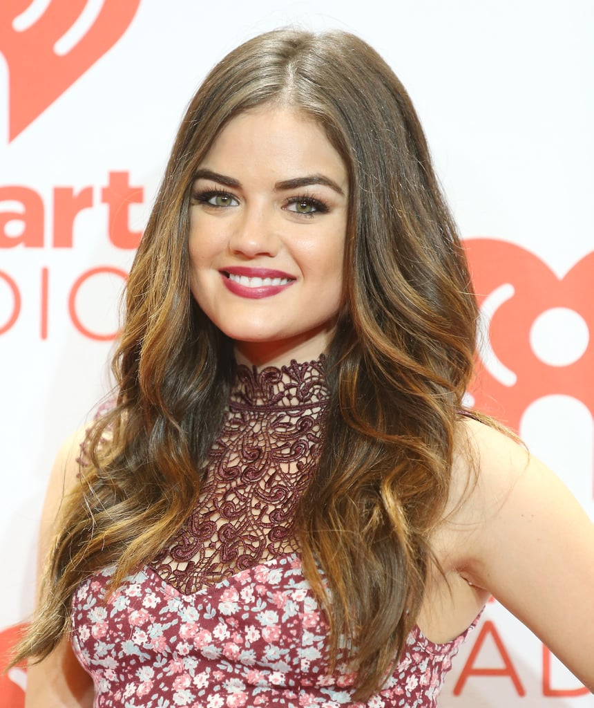 Lucy Hale went for a classic beauty look on the iHeartRadio red carpet. The young star opted for ruby-red lipstick, soft waves, and gorgeously groomed eyebrows.