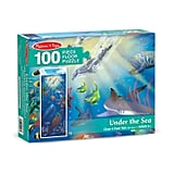 Melissa and Doug Under the Sea Jumbo Floor Puzzle 100pc