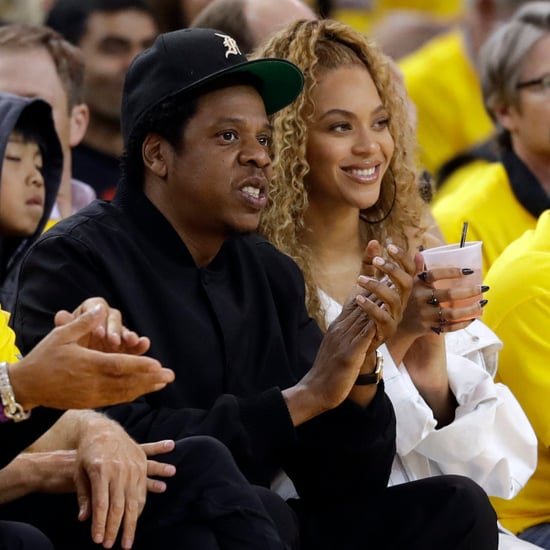 Beyoncé and JAY-Z at Golden State Warriors Game April 2018