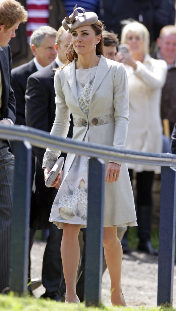 Kate Middleton wore a handpainted silk Jenny Packham dress this weekend, but we first saw it last year.