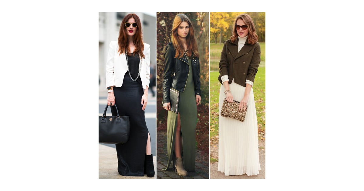 How to wear winter maxi dress