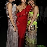 She met up with Jessica Alba and Claire Danes at a Valentino dinner party in France back in July 2010.