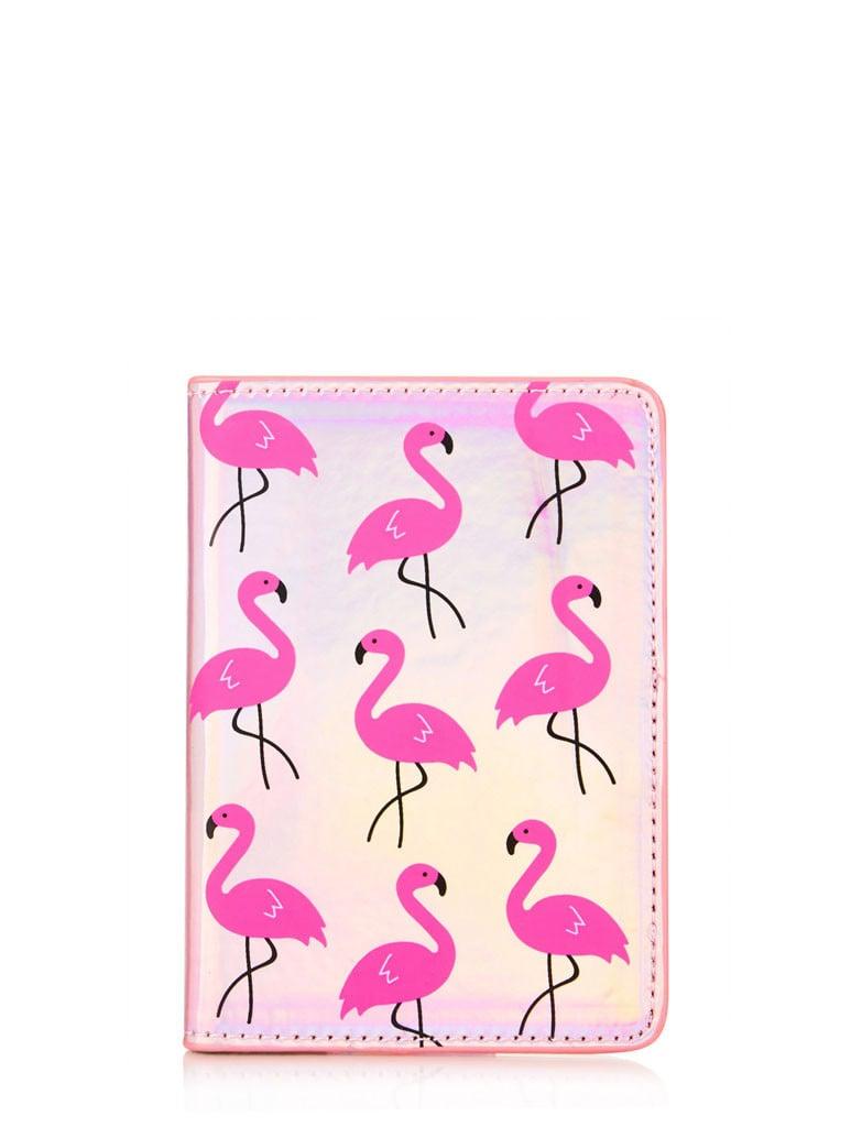 Skinny Dip Flamingo Passport Holder ($20)