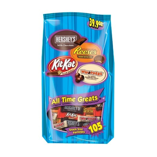 Hershey's All-Time Greats Chocolate Variety Pack, 105 Pieces