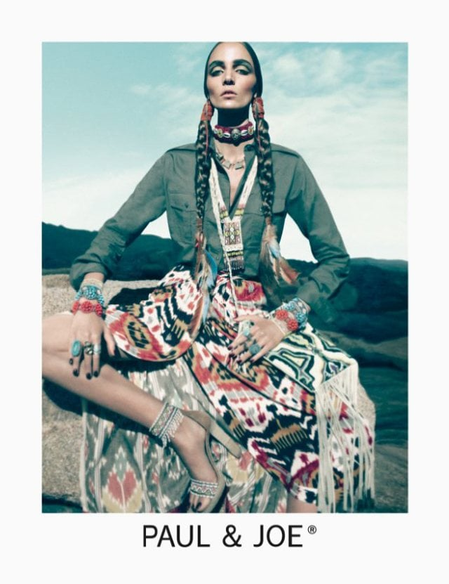 Zuzanna Bijoch looked like a tribal goddess in Paul & Joe's Spring ad.