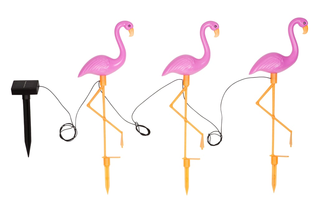 Yard lighting that's as much about the look as the glow. Garden Solar Powered Flamingo Lights ($39.95)